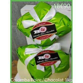 Colombe de Pâques poire chocolat